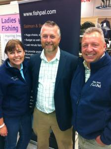 Members of FishPal with Andrew Flitcroft, Trout & Salmon Magazine